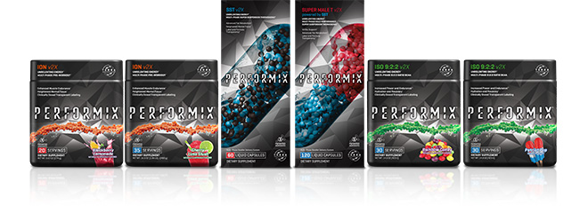 Lineup of all available Performix ION products