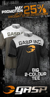 GASP Big 2 Colour Tee