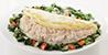 EGG WHITE OMELET W/ CHICKEN & VEGETABLES