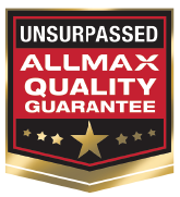 Allmax quailty guarantee badge graphic