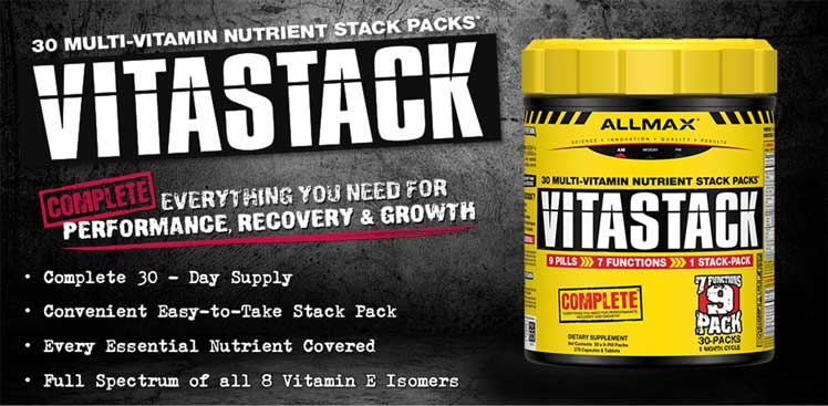 VitaStack - 30 Multi-Vitamin Nutrient Stack Packs.