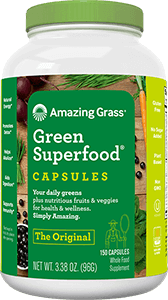 Green Superfood Tablet Container