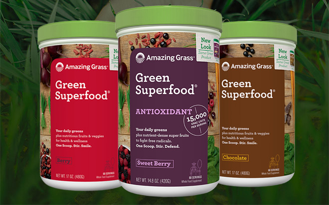 Amazing Grass Green SuperFood Powder bottles