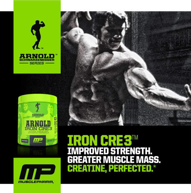 Iron CRE3 Improved Strength. Greater Muscle Mass. Creatine, Perfected.*