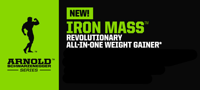 NEW! Arnold Schwarzenegger Series Iron Mass - Revolutionary All-In-One Weight Gainer*