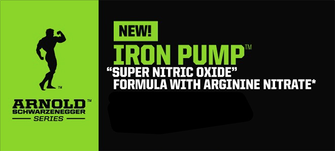 NEW! Arnold Schwarzenegger Series Iron Pump - 'Super Nitric Oxide' Formula With Arginine Nitrate*