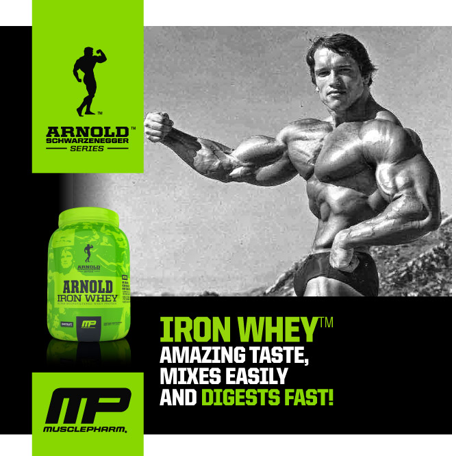 Arnold schwarzenegger series iron whey 7 servings chocolate of the highest quality whey protein malvernweather Image collections