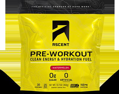 Ascent Pre-Workout bag