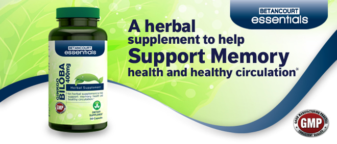 A Herbal Supplement To Help Support Memory Health and Healthy Circulation.*