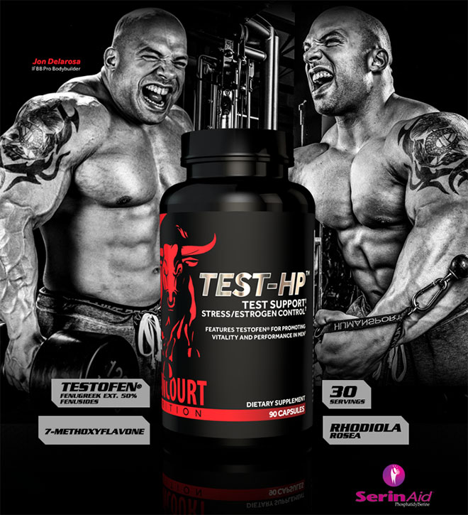 Betancourt Nutrition TEST HP. Testofen. Fenugreek Ext 50% Fenusides. 7-Methyloxyflavone. 30 Servings. Rhodiola Rosea.