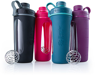 Series of Blender Bottles next each other