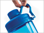 Photo of blender bottle being held