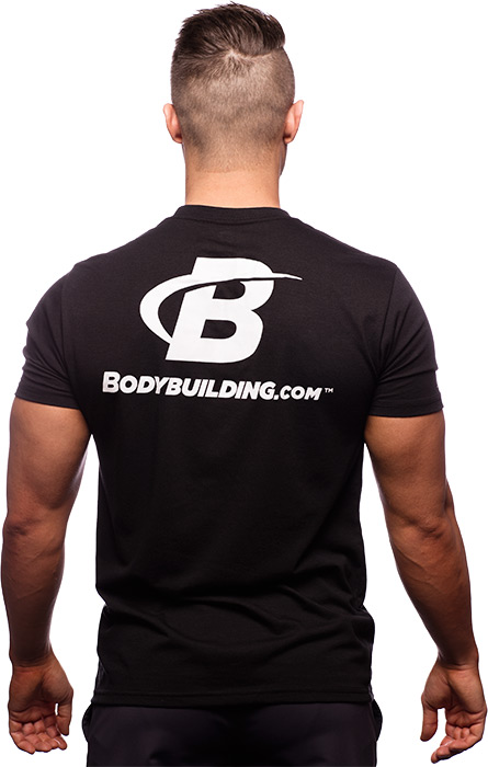 Classic Fitted Logo T-Shirt by Bodybuilding.com Clothing at ...
