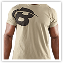 B Swoosh Tee Front Light Olive