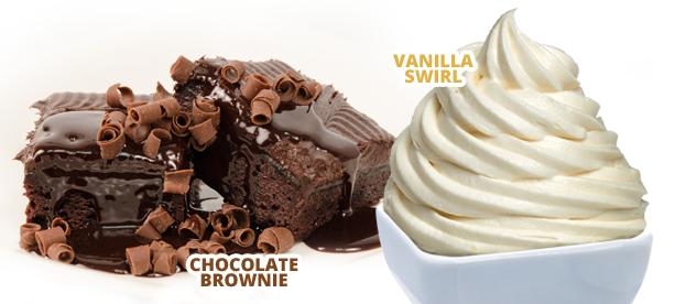 Chocolate Brownie. Vanilla Swirl.