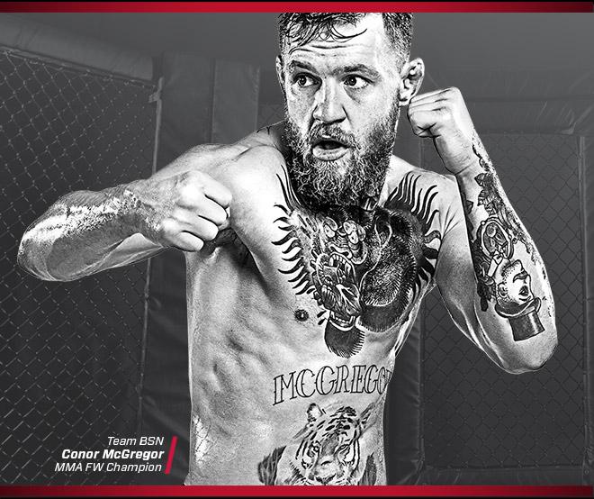 Team BSN. Conor McGregor. MMA FW Champion
