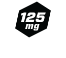 125mg Caffeine per Serving