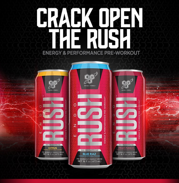 Crack Open The Rush. Energy and Performance Pre-Workout.