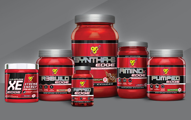 Assortment of BSN Edge products