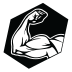 muscle flexing icon
