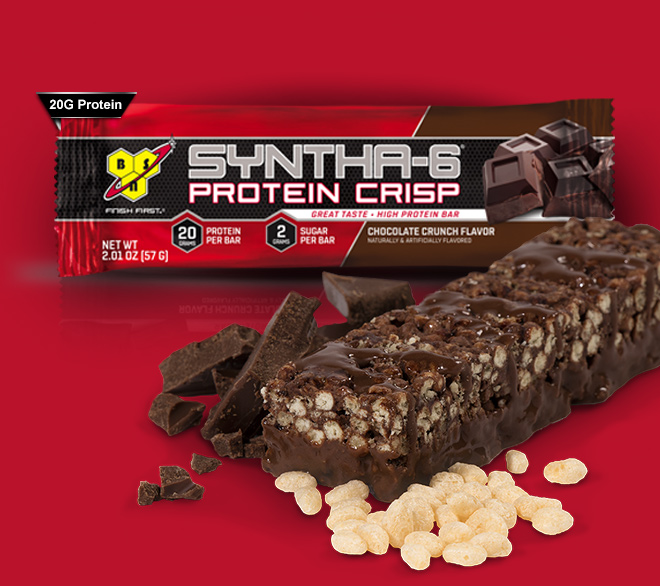 Syntha-6 protein crisp bar graphic