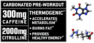 carbonated pre-workout is thermogenic and accerlates metabolism, burns fat and provides heathly energy