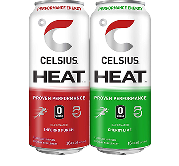 Celsius heat bottles