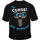 The Curse Skull Tee Blue Front