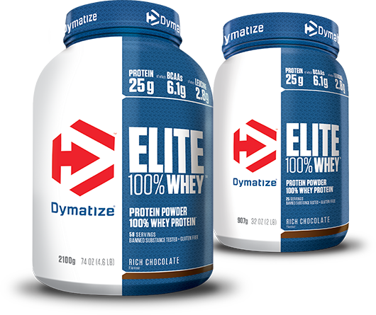 Elite 100% Whey Protein in 2700g and 907g sizes