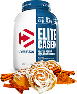 Dymatize Elite Casein Protein Powder 100% Micellar Casein.