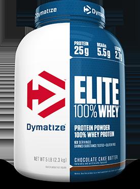 Dymatize: Elite 100% Whey Protein, 10-lbs