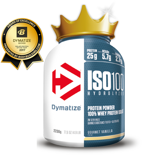 ISO100 HYDROLYZED is a super premium combination of hydrolyzed whey protein isolate and whey protein isolate – the most advanced formula from Dymatize®.