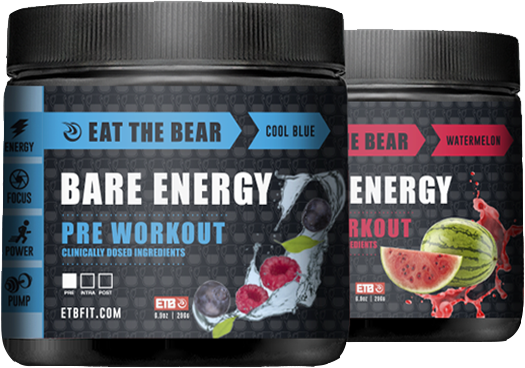 Bare Energy: Cool Blue and Watermelon