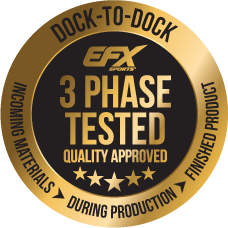 EFX 3 Phase Tested. Quality Approved.