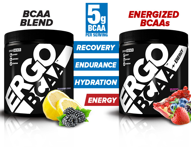 BCAA Blend 5g BCAA per Serving. Energized BCAAs. Recovery. Endurance. Hydration. Energy.