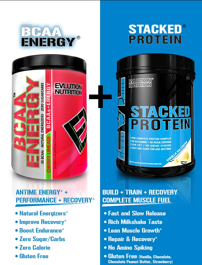 EVLUTION NUTRITION BCAA Energy/Protein Bundle at
