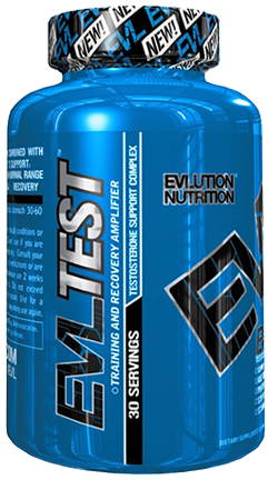 EVLution EVLTest. Training and Recovery Amplifier. Testosterone Support Stack. 30 Servings Bottle.