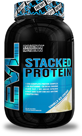 EVLution Nutrition Stacked Protein Gainer tub