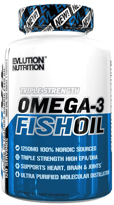 Evl Omega-3 Fish Oil bottle