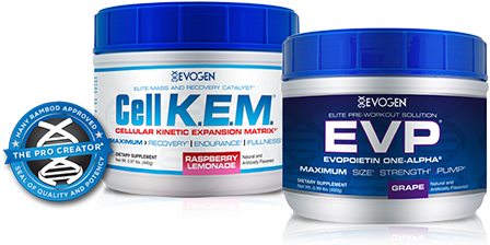 EVOGEN stack bottles