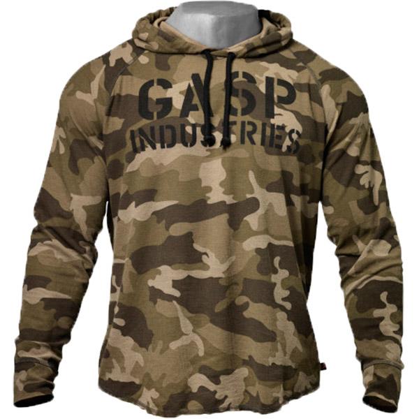 GASP Long Sleeve Thermal Hoodie