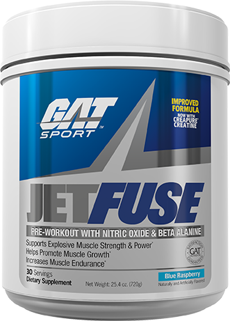 GAT JetFuse Pre Workout bottle shot