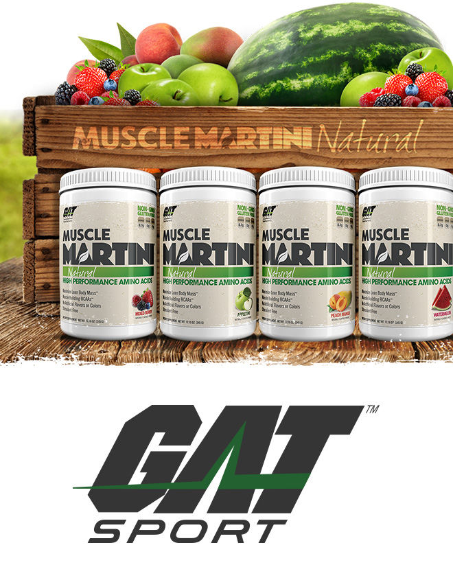 GAT Sport. Muscle Martini Natural