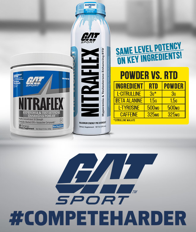 GAT Sport Nitraflex. Same level potency on key ingredients!