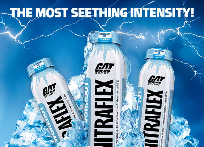 The Most Seething Intensity. GAT Sport Nitraflex bottle image