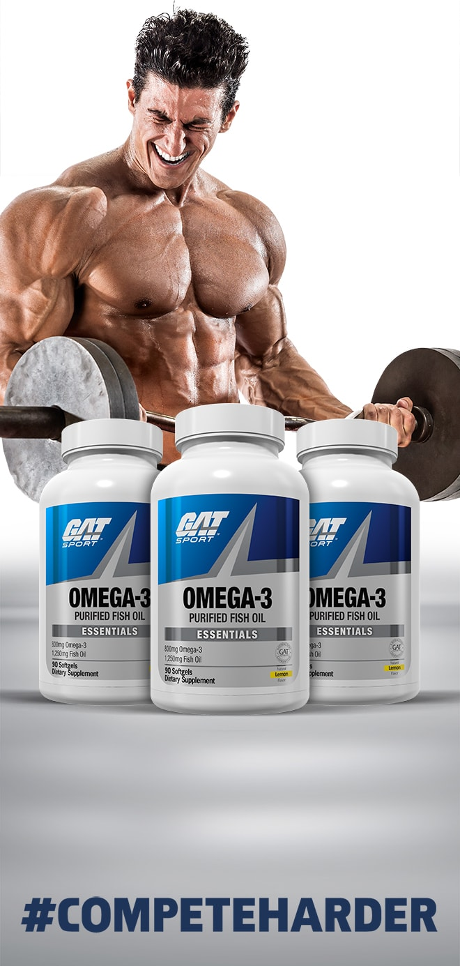 GAT Sport Omega-3 Purified Fish Oil - #CompeteHarder