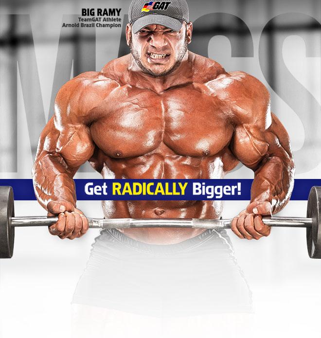 Get RADICALLY Bigger! Big Ramy TeamGAT Athlete. Arnold Brazil Champion.