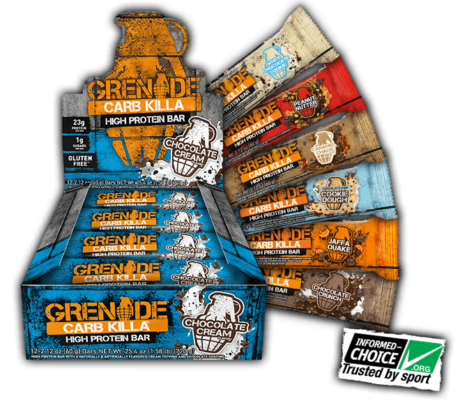 Grenade carb killa high protein bar flavors