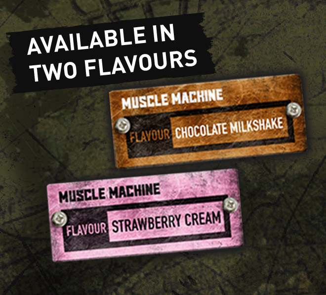 Available in 2 flavors. Chocolate Milkshake and Strawberry Cream.
