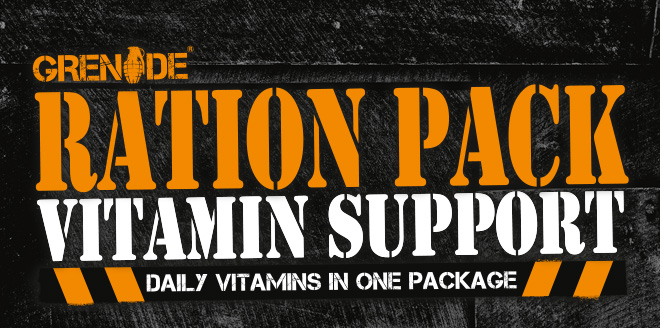Grenade Ration Pack Vitamin Support. Daily Vitamins In One Package